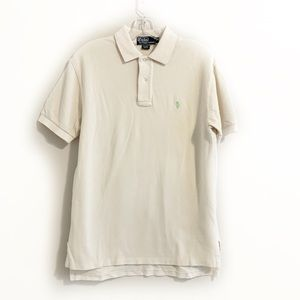 Polo by Ralph Lauren Logo Off White Polo Shirt